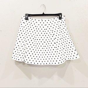 Banana Republic b&w diamond pleated skirt size 12